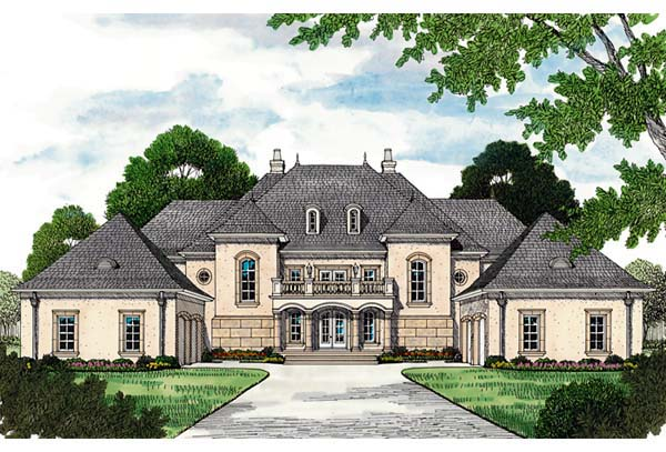 European House Plan 96913 Elevation