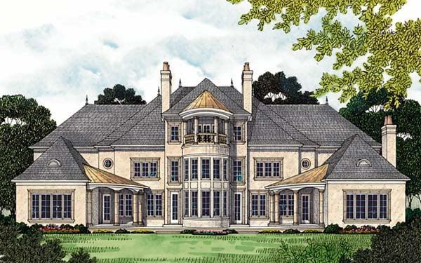 European House Plan 96913 Rear Elevation