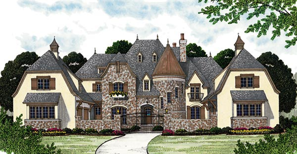 House plan 96914 at for Home plans with turrets