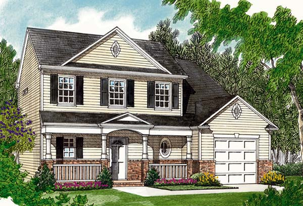 Traditional House Plan 96920 with 3 Beds, 3 Baths, 1 Car Garage Elevation
