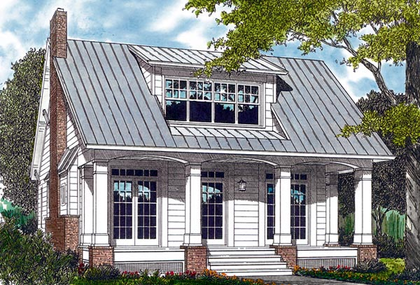 Bungalow Cottage Craftsman House Plan  Elevation
