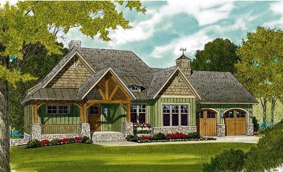 Bungalow, Cottage, Craftsman House Plan 97044 with 3 Beds, 4 Baths, 2 Car Garage Elevation