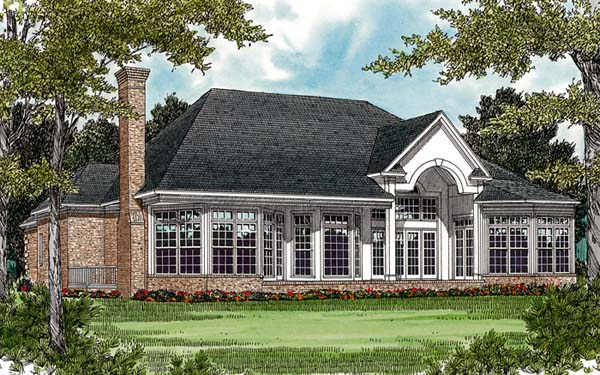 Colonial Traditional House Plan 97050 Rear Elevation