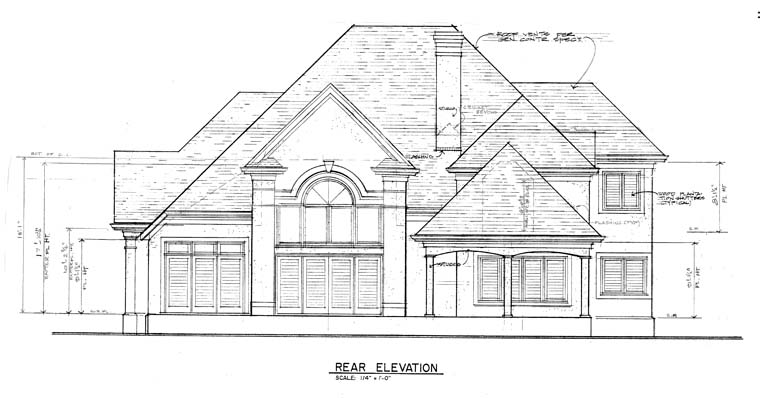 Traditional House Plan 97082 Rear Elevation