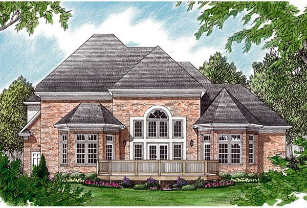 Traditional House Plan 97093 Rear Elevation