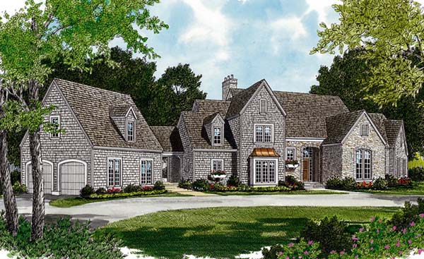 Cottage European House Plan 97095 Elevation