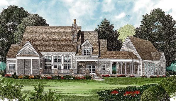 Cottage European House Plan 97095 Rear Elevation