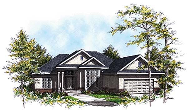 European House Plan 97123 Elevation