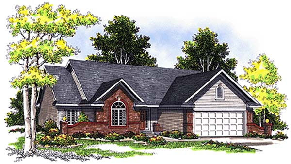 Bungalow European House Plan 97134 Elevation