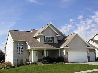 European House Plan 97137 with 3 Beds, 2 Baths, 2 Car Garage Picture 1
