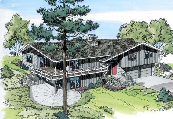 Contemporary Retro House Plan 9714 Elevation