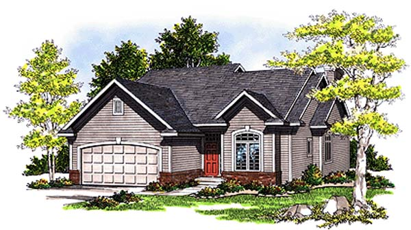 Ranch House Plan 97152 Elevation