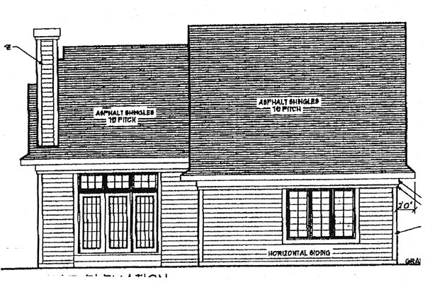 Ranch House Plan 97152 Rear Elevation
