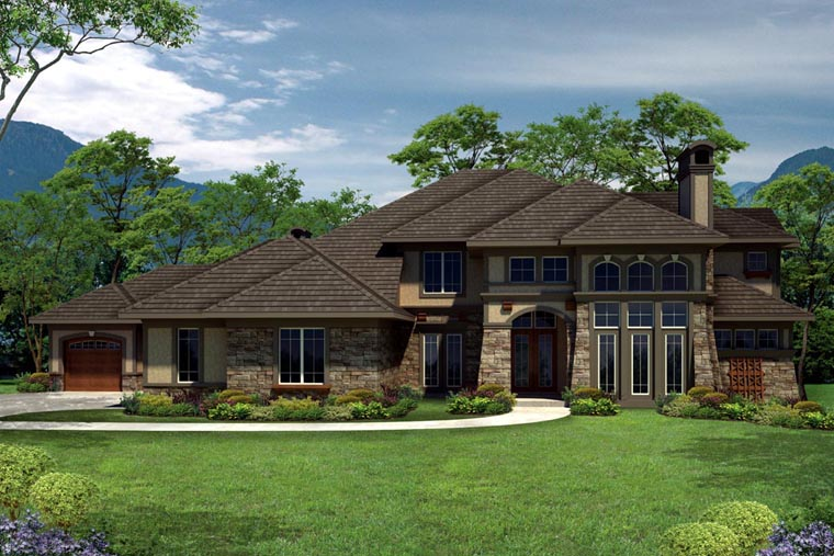 Tuscan House Plan 97158 with 4 Beds, 5 Baths, 4 Car Garage Elevation