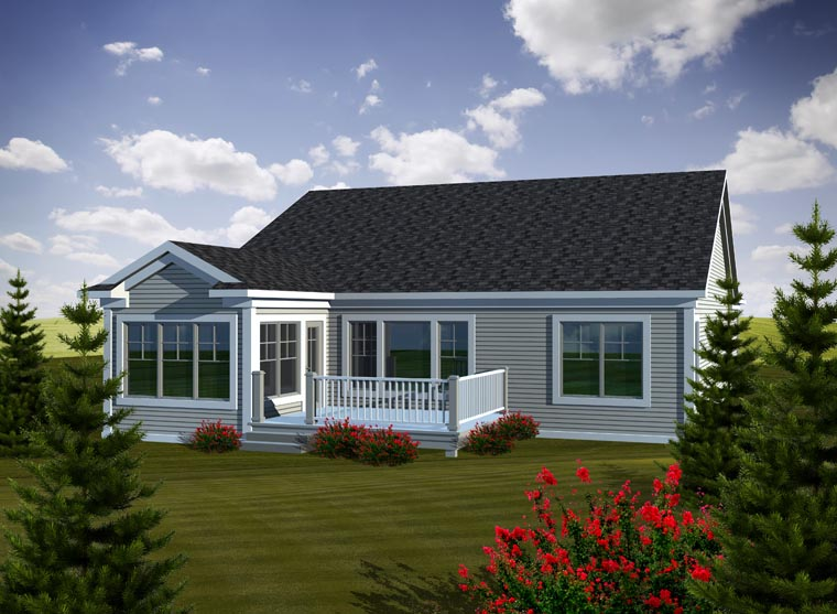 Ranch House Plan 97191 Rear Elevation