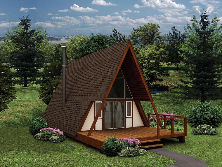 A-Frame Contemporary House Plan 97201 Elevation