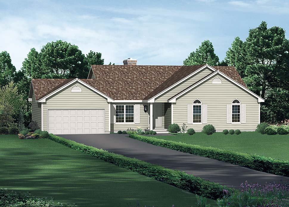 Awesome Traditional Style House Plan Number 97204 With 3 Bed 2 Bath 2 Car Garage Download Free Architecture Designs Momecebritishbridgeorg