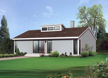 Contemporary, Ranch House Plan 97242 with 4 Beds, 2 Baths