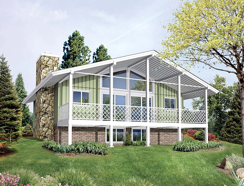 Bungalow, Contemporary, Country, Traditional House Plan 97259 with 2 Beds, 1 Baths Elevation