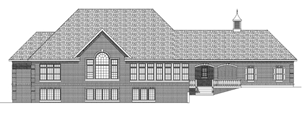 Country European House Plan 97314 Rear Elevation