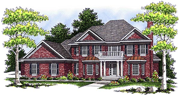 Colonial European House Plan 97323 Elevation