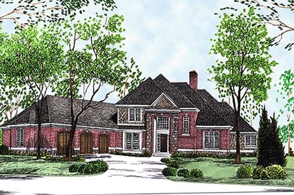 Bungalow European House Plan 97324 Elevation