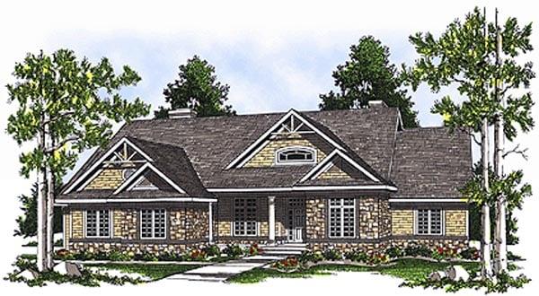 Bungalow House Plan 97329 Elevation