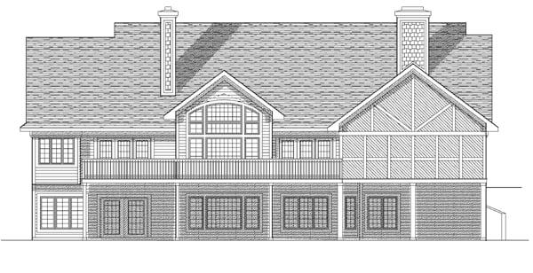 Bungalow House Plan 97329 Rear Elevation