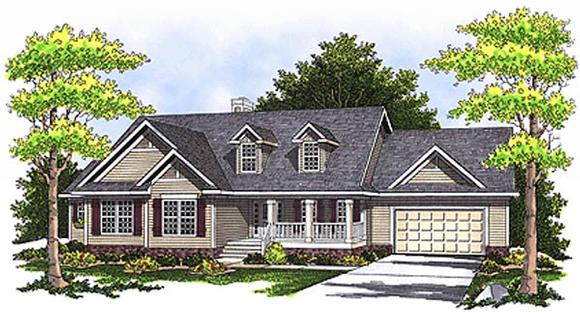 Country House Plan 97340 with 4 Beds, 4 Baths, 2 Car Garage Elevation