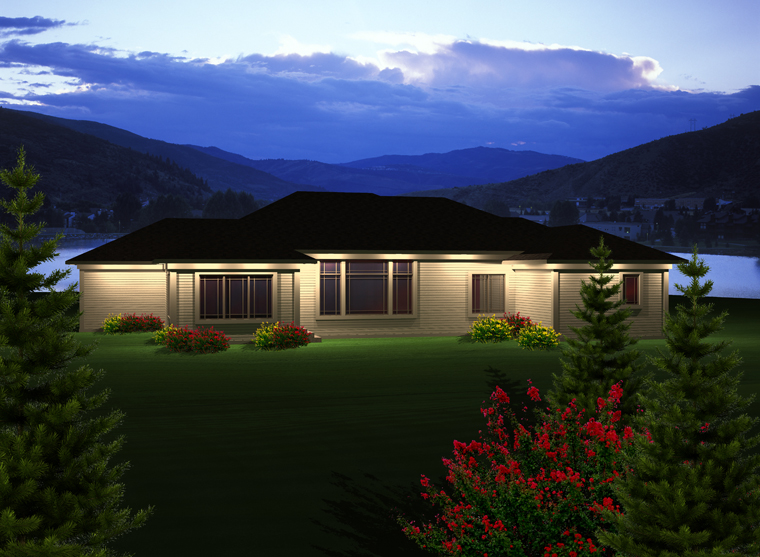 Ranch House Plan 97364 Rear Elevation