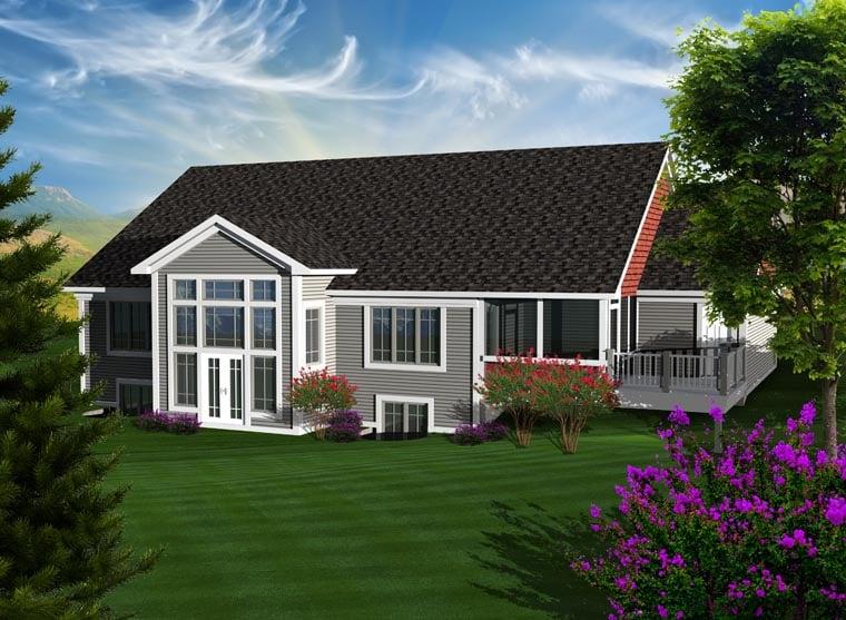 Ranch House Plan 97370 Rear Elevation
