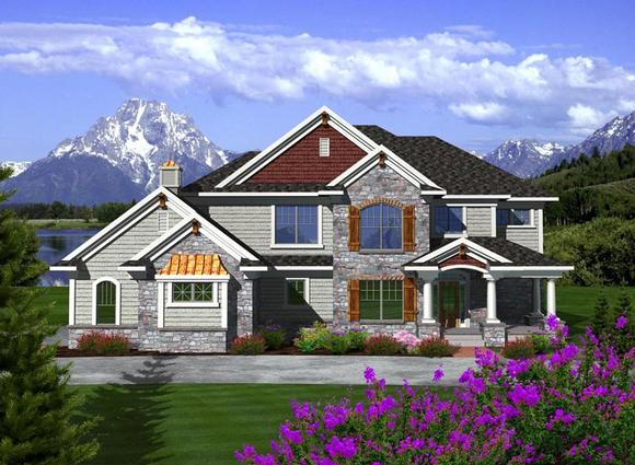 Traditional House Plan 97372 with 4 Beds, 4 Baths, 3 Car Garage Elevation