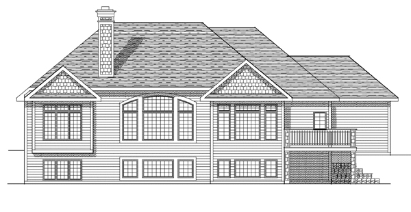 Traditional House Plan 97373 Rear Elevation