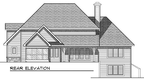 European House Plan 97398 Rear Elevation