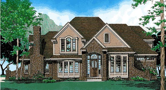 House Plan 97402 Elevation