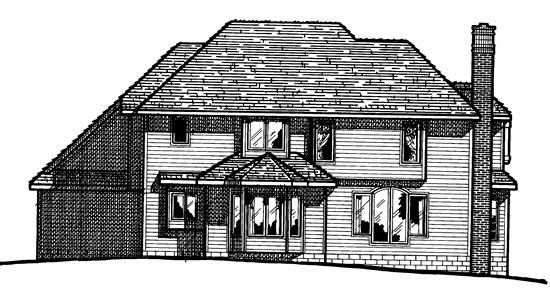 House Plan 97402 Rear Elevation