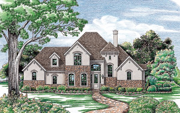 Elevation of Bungalow   European   Tudor   House Plan 97405