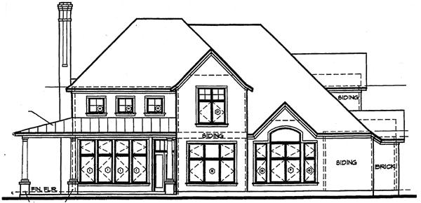 European House Plan 97409 Rear Elevation