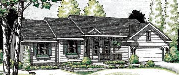 Ranch House Plan 97416 Elevation