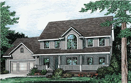 Colonial House Plan 97478 Elevation