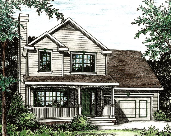 Country House Plan 97479 Elevation