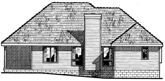 European House Plan 97493 Rear Elevation