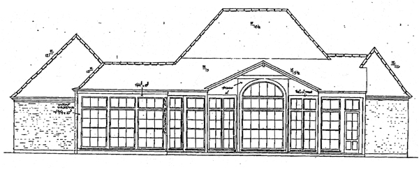 European House Plan 97511 Rear Elevation