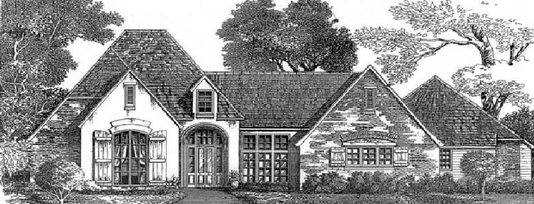 European House Plan 97514 Elevation