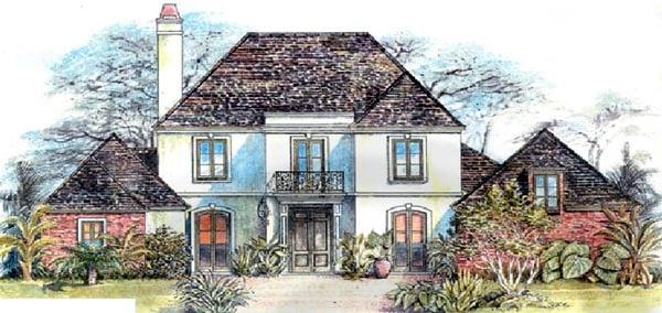 European House Plan 97519 Elevation