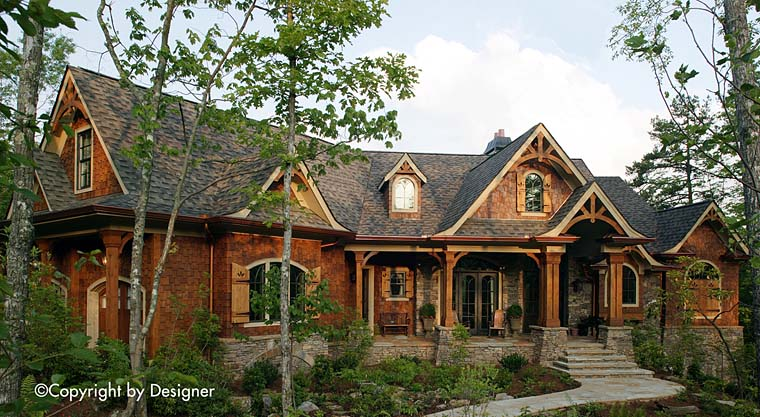 Cottage Country Craftsman Southern Traditional House Plan 97602 Elevation