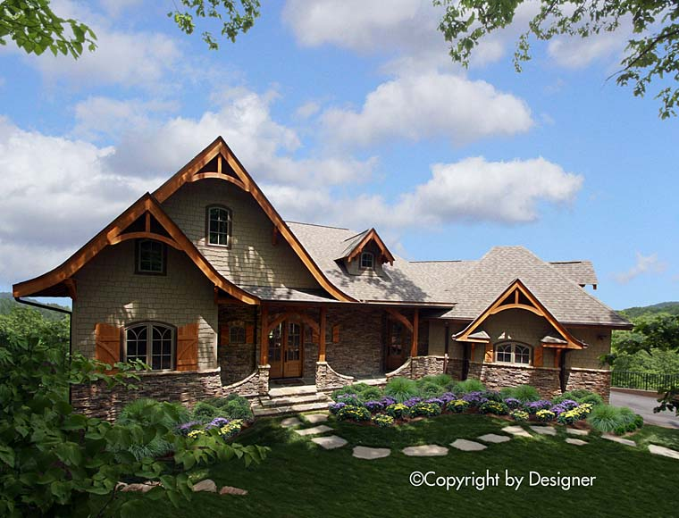 Cottage Country Craftsman European Tudor House Plan 97607 Elevation