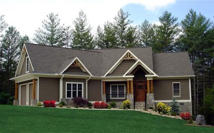 Craftsman, Ranch, Traditional House Plan 97608 with 3 Beds, 2 Baths, 2 Car Garage
