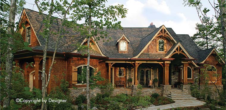 Cottage Country Craftsman Traditional House Plan 97630 Elevation