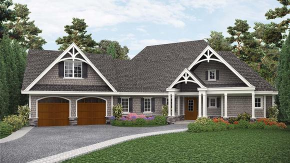 Country, Craftsman, Ranch House Plan 97639 with 3 Beds, 3 Baths, 2 Car Garage Elevation